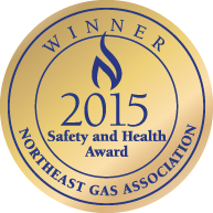 2015 Safety and Health Award winner, Northeast Gas Association